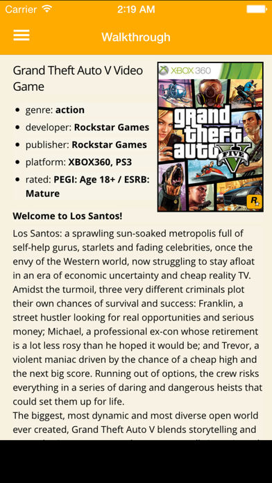 Walkthrough for GTA 5 and All Cheats for Your Grand Theft Auto V